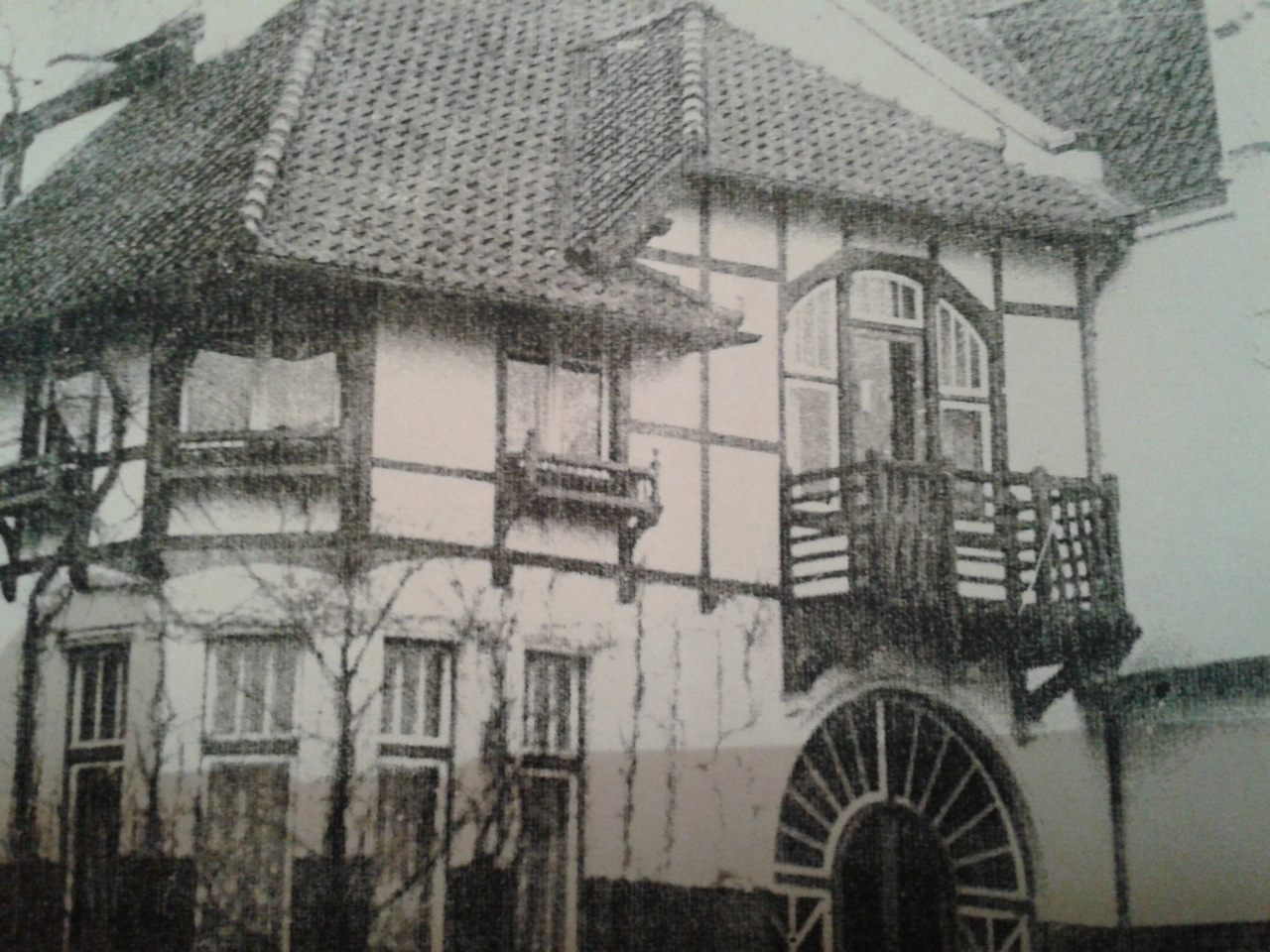 Ein altes Foto der Villa