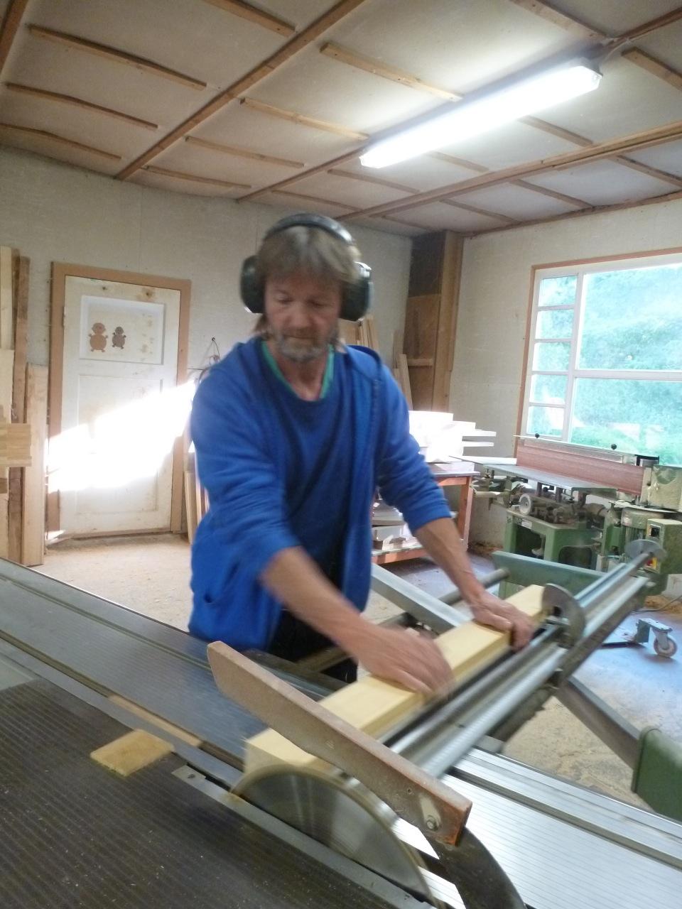 Thomas Tessmer in seiner Werkstatt