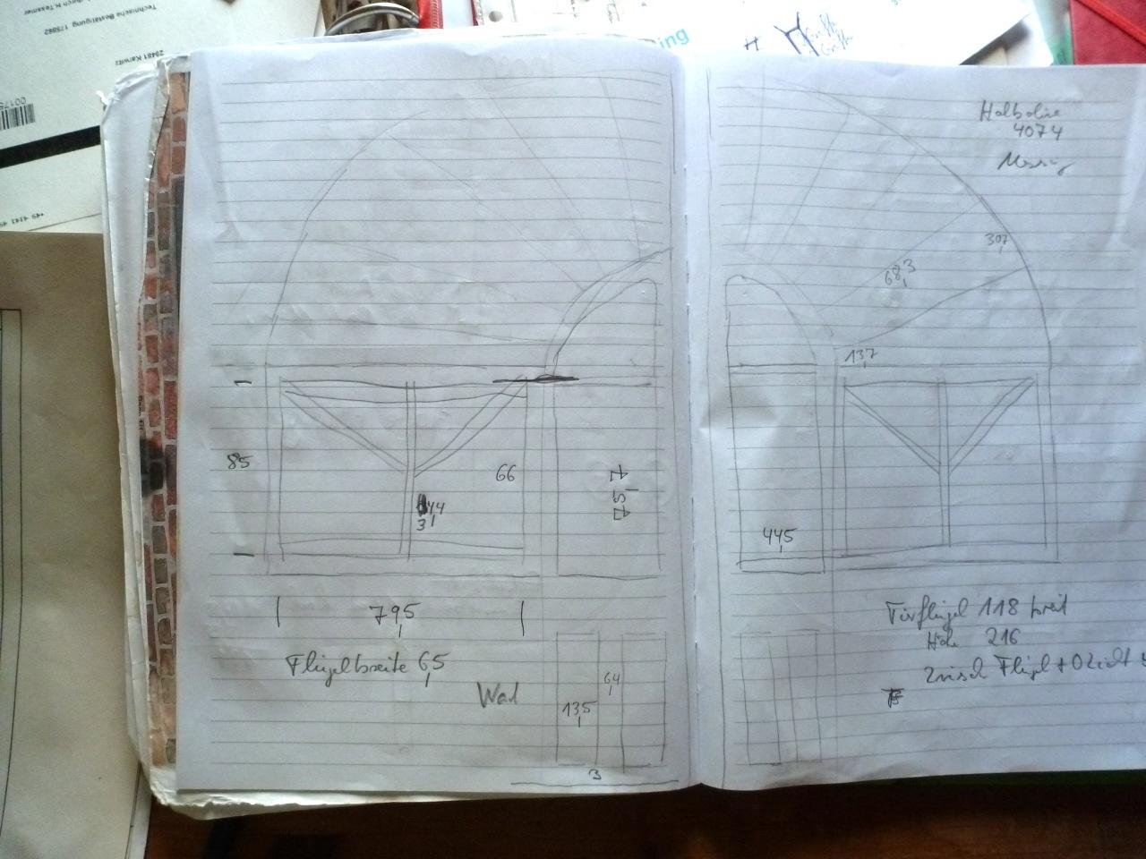 Erste Skizzen von Thomas Tessmer