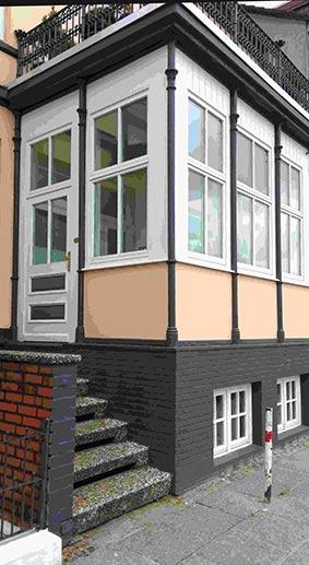 Wintergarten in Ovelgönne nach dem Einbau der neuen Fenster